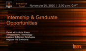 Fiserv: Intership and Graduate Opportunities
