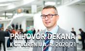 Príhovor dekana k otvoreniu akademického roka 2020/21