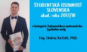 Študentská osobnosť Slovenska sa vo svojej kategórii stal náš študent