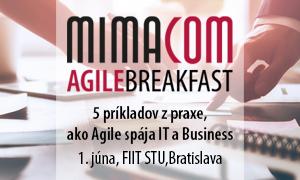 Agile Breakfast @ FIIT STU: 5 príkladov z praxe ako Agile spája IT a Business
